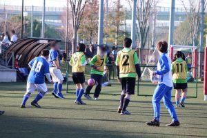 スポーツフェスタサッカーの日試合風景